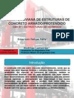 Apresentações em (PPT), de uma análise da norma de concreto protendido da Bolivia.
