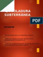 VOLADURA SUBTERRANEA