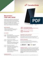 Datasheet Quartech CS6P-M En