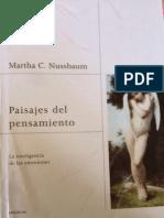 Extracto Del Libro Paisajes Del Pensamiento-nussbaum