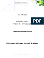 Etapa 2. Habilidades Investigativas FUNDAMENTIOS de INV.