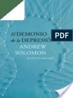 El Demonio de La Depresion - Andrew Solomon