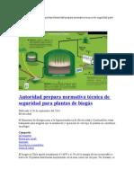 Seguridad en La Planta de Bio Gas