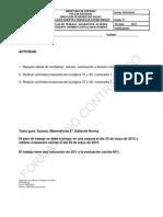 PLAN DE TRABAJO DE ÁLGEBRA DE OCTAVO B