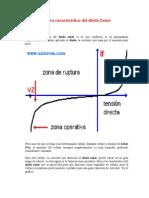 Curva Característica Del Diodo Zener - Tunel