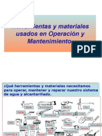 herramientas y materiales usados en O&M, seguimiento de actividades de O&M.ppt