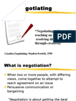 13. Negotiation