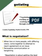 13. Negotiation