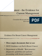 Breast Cancer Evidence for Current Management