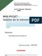Rappot de Mini-Projet de Structure données
