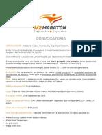 Convocatoria 1/2 Maratón Tlajomulco - Cajititlán