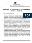 10ª Convocação Concurso 001-2013 Fadesp