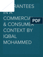 Guarantees in a commercial & consumer context (2012)