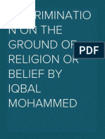 Discrimination on the grounds of religion or belief (2012)