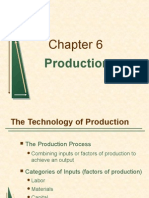 Support for Production Function