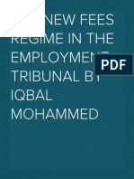 The new fees regime in the Employment Tribunal (2013)
