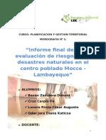 Evaluación de Riesgos Ante Desastres Naturales en El Centro Poblado Mocce - Lambayeque