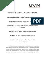 Producto 1.- El Diseño Curricular en Mexico y El Mundo