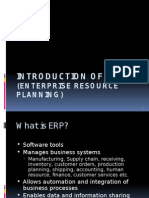 Introduction of ERP New