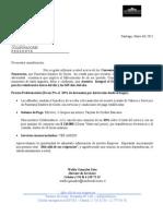 Carta Presentacion y Convenios