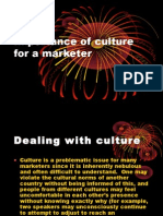Implication of Culture for a Marketer