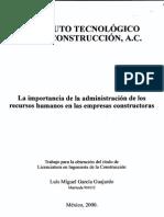 IMPORTANCIA DE LA ADMINISTRACION DE RRHH EN UNA CONSTRUCTORA.pdf