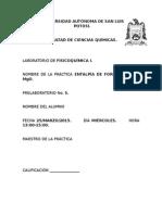 Entalpía de Formación Del MgO.