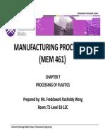 Chapter 7-Processing of Plastics