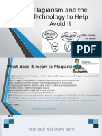 EDU 520 Plagiarism and the Technology to Help Avoid It