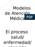 Los Modelos de Atención Médica