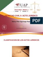 Clasificación de Actos Jurídicos