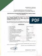 Certificados de Parametros Mariscal Caceres