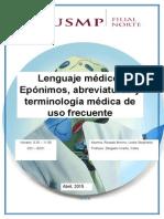 Lenguaje, Terminologia, Abreviatura y Epónimos Médicos (Autoguardado)