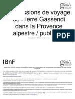 Impressions de Voyage de Pierre Gassendi Dans La Provence