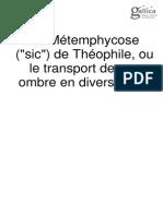 La Métemphycose de Theophile, Ou Le Transport de Son Ombre en Divers Corps