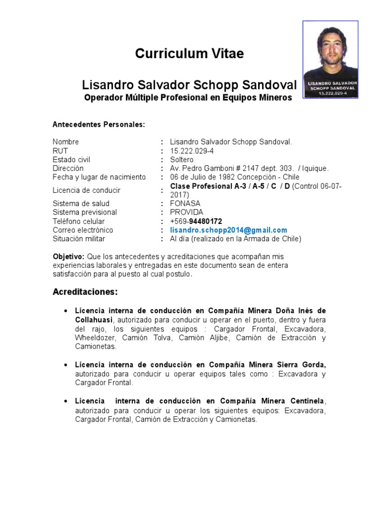 Excepcional Curriculum Vitae Para Ejemplos Militares A Civiles ...