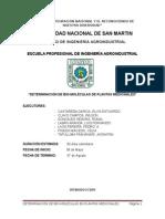 c. Determinación de Biomoleculas