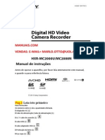 Manual da filmadora Sony MC 2000 PT BR