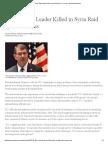 Islamic State Leader Killed in Syria Raid by U.S