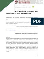 Importancia Da Resposta Glicemica Dos Alimentos Na Qualidade de Vida - 2015