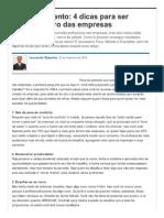 4 Dicas Para Ser Notado Dentro Das Empresas