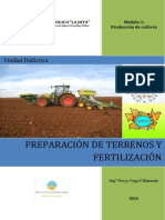 Manual de preparación de terrenos y fertilizacion