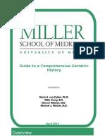 Guide to a Comprehensive Geriatric History for GeriU 2013