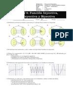 Guía n°4 - Unidad de Funciones - Función inyectiva, sobreyectiva y biyectiva - Cuarto Medio