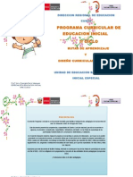 Propuesta de Programación Curricular Inicial-2014