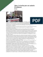 Estados Unidos, la lucha por un salario mínimo de 15 dólares Por Dan La Botz