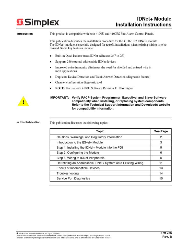 Simplex Iam Relay Wiring Diagram Schematics Schematic Installation Instructions Idnet Module Amplifier Detex Diagrams