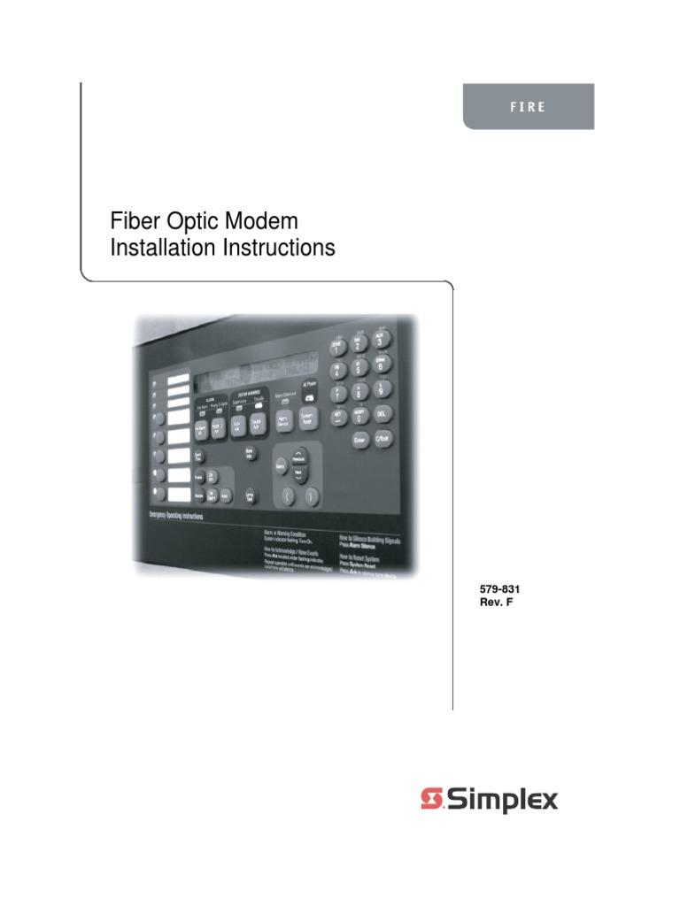 simplex installation instructions fiber optic modem optical fiber rh scribd com simplex 4010 programming manual Simplex 4120 Public Address Operation