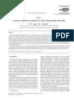 Chemical Deposition Method for Metal Chalcogenide Thin Films