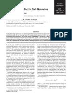 Franz−Keldysh Effect in GaN Nanowires